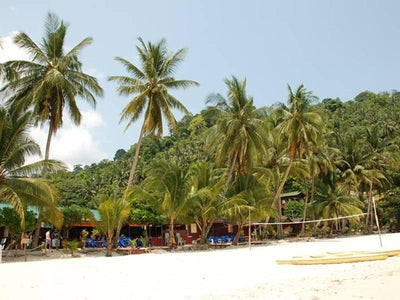 Restaurants by the beach at Pulau Tioman