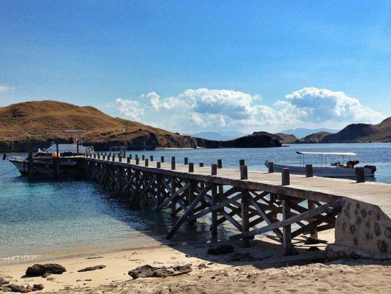 Sebayur Dock by the beach at Flores Indonesia