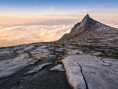 Summit view on the peak of Mount Kinabalu