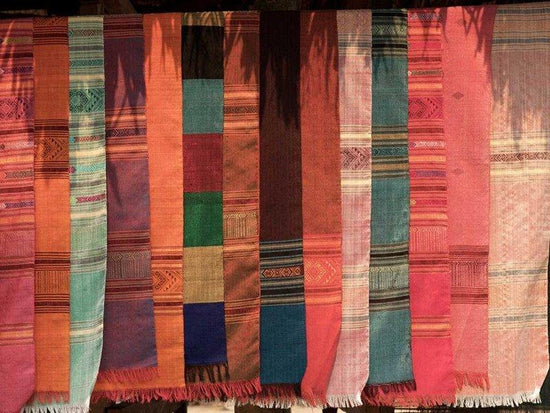 Textiles at Muang Ngoi woven by local tribes