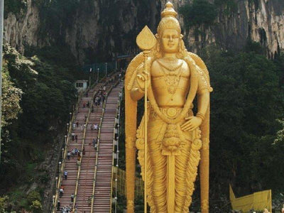 The Golden Murugan statue at Batu Caves