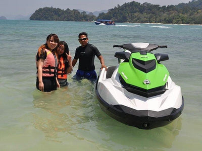 Tourists ready for jetski activity in Langkawi