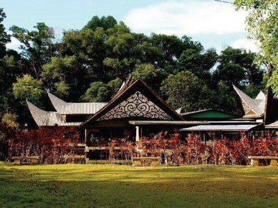 Traditional looking building at Kampung Nelayan