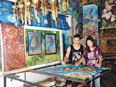Traditional painting at Cherating Village in Kuantan