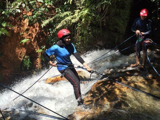 Waterfall abseiling in Gopeng