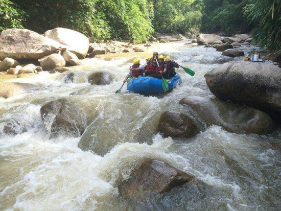 White water rafting activity at Sungai Kampar