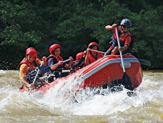 White water rafting at river in Pahang