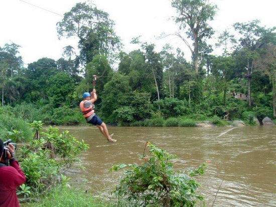Zipline adventure at Jeram Besu