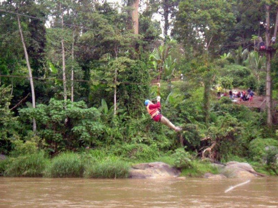 Zipline adventure in Jeram Besu
