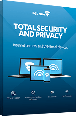 F-SECURE TOTAL SECURITY AND PRIVACY – Internet security and VPN for all devices