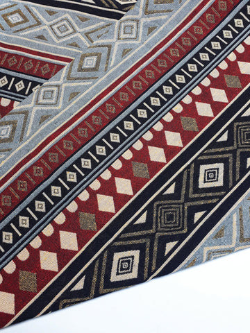 Woven Fabric Tribal Fabric Native Fabric by the yard Ethnic fabric Aztec fabric Craft Supplies Woven Textile 1/2 yard (WFF258)