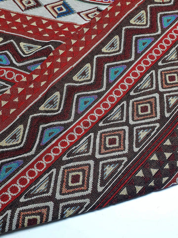 Woven Fabric Tribal Fabric Native Fabric by the yard Ethnic fabric Aztec fabric Craft Supplies Woven Textile 1/2 yard (WFF260)
