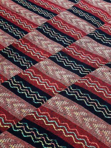 Thai Woven Cotton Fabric Tribal Fabric Native Fabric by the yard Ethnic fabric Aztec fabric Craft Supplies Woven Textile 1/2 yard (WF241)