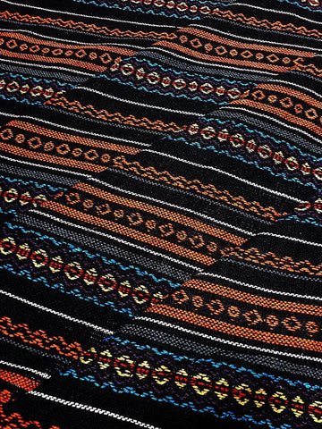 Thai Woven Cotton Fabric Tribal Fabric Native Fabric by the yard Ethnic fabric Aztec fabric Craft Supplies Woven Textile 1/2 yard (WF238)