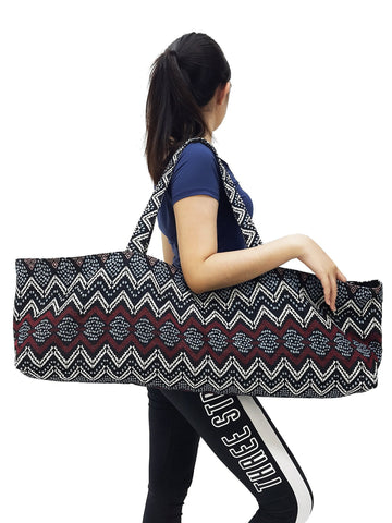 Handmade Yoga Mat Bag Sports Bags Woven Cotton Yoga Bag Tote Yoga Sling bag Pilates Bag Pilates Mat Bag Canvas Bag Women yoga bag (YB198)