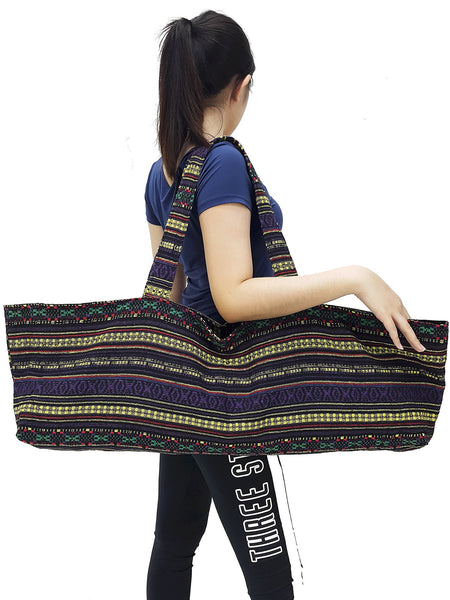 Handmade Yoga Mat Bag Sports Bags Woven Cotton Yoga Bag Tote Yoga Sling bag Pilates Bag Pilates Mat Bag Canvas Bag Women yoga bag (YB242)