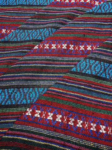 Thai Woven Cotton Fabric Tribal Fabric Native Fabric by the yard Ethnic fabric Aztec fabric Craft Supplies Woven Textile 1/2 yard (WF240)