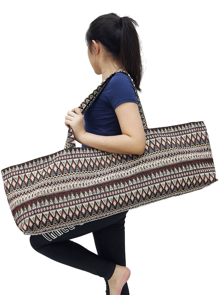 Yoga Mat Bag Sports Bags Woven Cotton Yoga Bag Tote Yoga Sling bag Pilates Bag Pilates Mat Bag Canvas Bag Women yoga bag (YB99)