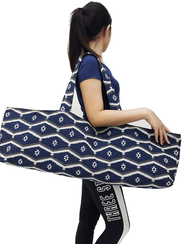 Handmade Yoga Mat Bag Sports Bags Woven Cotton Yoga Bag Tote Yoga Sling bag Pilates Bag Pilates Mat Bag Canvas Bag Women yoga bag (YB139)