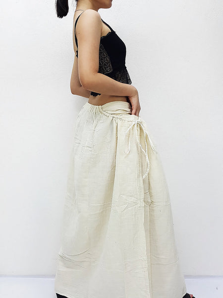 PSS6 Women Clothing Double Cotton Skirts Long Skirts Comfy Skirts Luxury Unique Skirts Maxi Skirt Gypsy Skirt Ivory