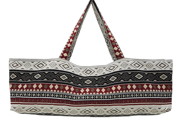 Handmade Yoga Mat Bag Sports Bags Woven Cotton Yoga Bag Tote Yoga Sling bag Pilates Bag Pilates Mat Bag Canvas Bag Women yoga bag (YB193)