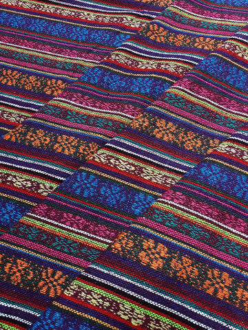 Thai Woven Cotton Fabric Tribal Fabric Native Fabric by the yard Ethnic fabric Aztec fabric Craft Supplies Woven Textile 1/2 yard (WF176)