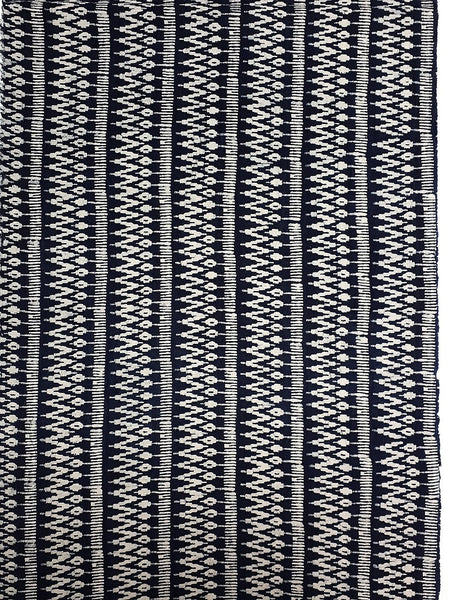 Thai Hand printed Fabric Natural Cotton Fabric by the yard Hmong Fabric Hill Tribe Fabric Vintage Fabric Batik Fabric Indigo - HFL10