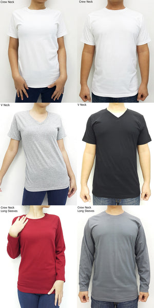 100% Cotton T Shirts Type