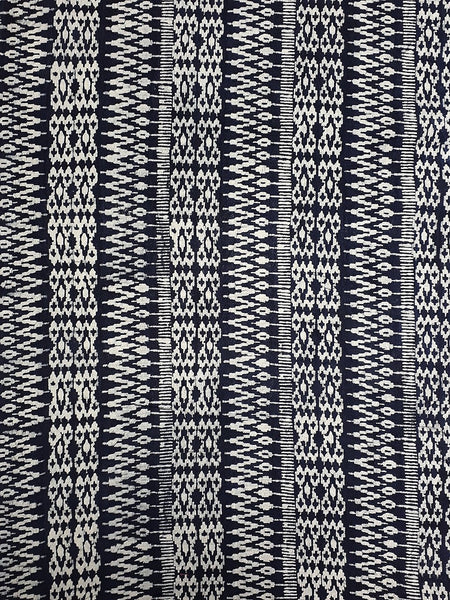 Thai Hand printed Fabric Natural Cotton Fabric by the yard Hmong Fabric Hill Tribe Fabric Vintage Fabric Batik Fabric Indigo - HFL12