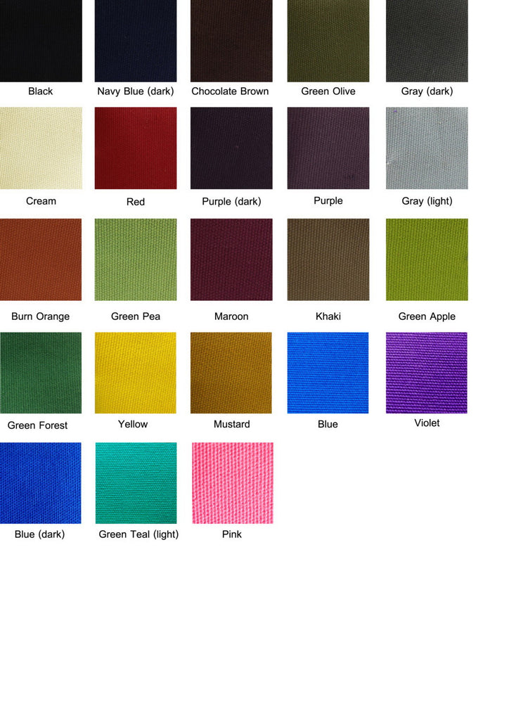 12 oz Canvas Fabric Solid Color