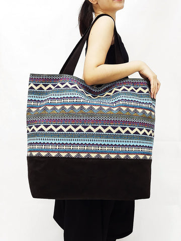 TWB14 - Woven Bag Cotton Tote Bag Shoulder Bag Market Bag Shopping Bag Women Bag