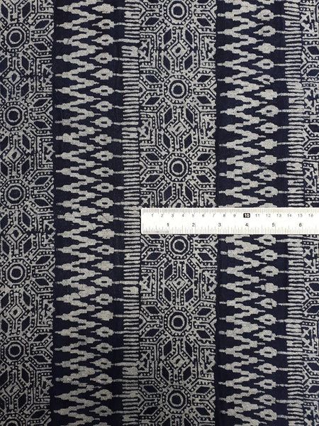 Thai Hand printed Fabric Natural Cotton Fabric by the yard Hmong Fabric Hill Tribe Fabric Vintage Fabric Batik Fabric Indigo - HFL17