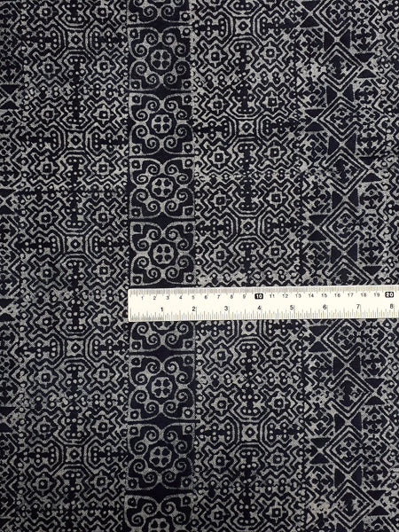 Hand printed Fabric Natural Cotton Fabric by the yard Hmong Fabric Hill Tribe Fabric Vintage Fabric Batik Fabric Indigo - HFL19, VeradaCraft, HaremPantsThai