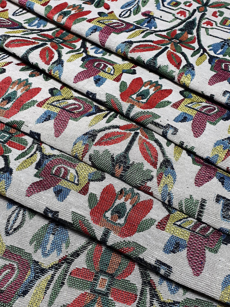 Thai Woven Fabric Tribal Fabric Native Fabric by the yard Ethnic fabric Aztec fabric Craft Supplies Woven Textile 1/2 yard (WFF194)