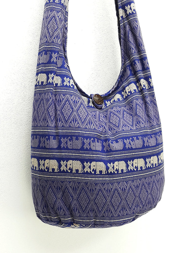 Cotton Handbags Elephant bag Shoulder bag Sling bag Crossbody bag Navy, VeradaShop, HaremPantsThai