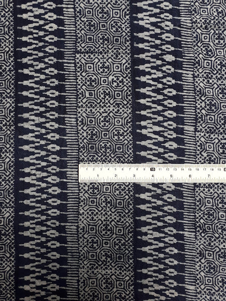 Thai Hand printed Fabric Natural Cotton Fabric by the yard Hmong Fabric Hill Tribe Fabric Vintage Fabric Batik Fabric Indigo - HFL20
