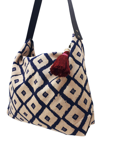 Cotton Bag Women Bag Handbags Hippie Bag Hobo Bag Boho Bag Shoulder Bag Tote Tribal Bag Hill Tribe Bag Everyday Bag Purse Tassel Charm CTB4