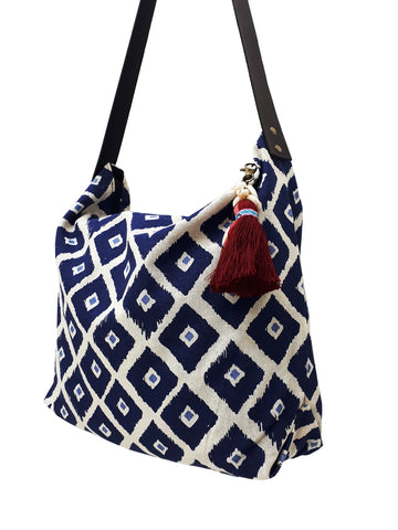 Cotton Bag Women Bag Handbags Hippie Bag Hobo Bag Boho Bag Shoulder Bag Tote Tribal Bag Hill Tribe Bag Everyday Bag Purse Tassel Charm CTB7