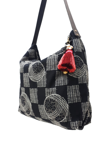 Cotton Bag Women Bag Handbags Hippie Bag Hobo Bag Boho Bag Shoulder Bag Tote Tribal Bag Hill Tribe Bag Everyday Bag Purse Tassel Charm CTB11