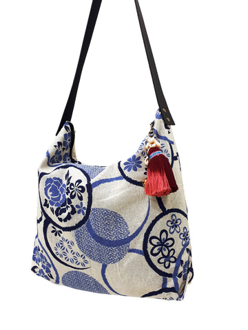 Cotton Bag Women Bag Handbags Hippie Bag Hobo Bag Boho Bag Shoulder Bag Tote Tribal Bag Hill Tribe Bag Everyday Bag Purse Tassel Charm CTB13