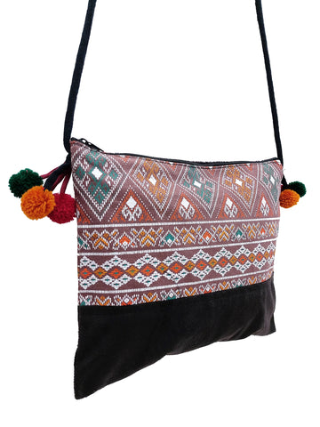 Cotton Bag Mini Bag Pom Pom Hill Tribe Bag Cotton Purse Hippie Bag Clutch Shoulder bag Handbags Sling Bag Mini Crossbody Bag MBP39