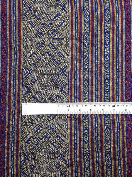 Thai Woven Fabric Tribal Fabric Native Cotton Fabric by the yard Ethnic fabric Craft fabric Craft Supplies Woven Textile 1/2 yard (WFF205)