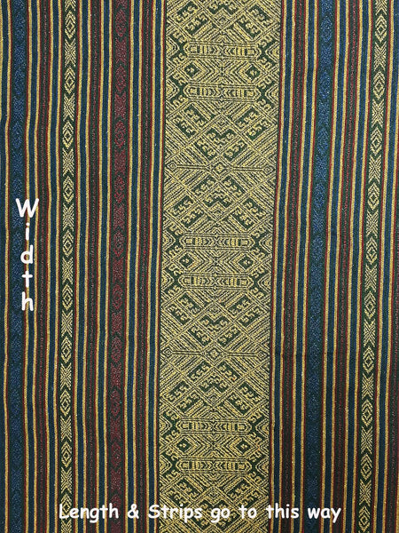 Thai Woven Fabric Tribal Fabric Native Cotton Fabric by the yard Ethnic fabric Craft fabric Craft Supplies Woven Textile 1/2 yard (WFF207)