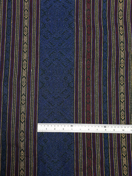Thai Woven Fabric Tribal Fabric Native Cotton Fabric by the yard Ethnic fabric Craft fabric Craft Supplies Woven Textile 1/2 yard (WFF208)
