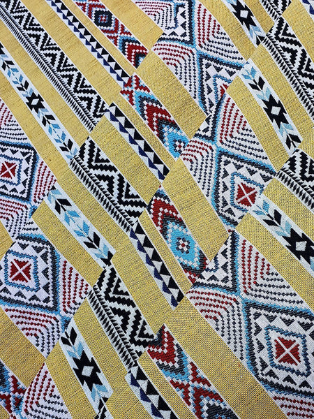Thai Woven Fabric Tribal Fabric Native Cotton Fabric by the yard Ethnic fabric Craft fabric Craft Supplies Woven Textile 1/2 yard (WFF226)