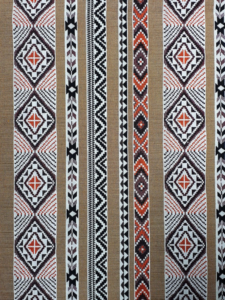 Thai Woven Fabric Tribal Fabric Native Cotton Fabric by the yard Ethnic fabric Craft fabric Craft Supplies Woven Textile 1/2 yard (WFF227)