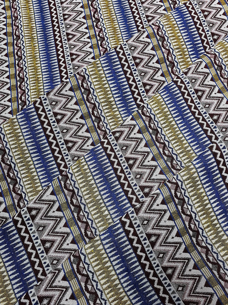 Thai Woven Fabric Tribal Fabric Native Fabric by the yard Ethnic fabric Aztec fabric Craft Supplies Woven Textile 1/2 yard (WFF231)
