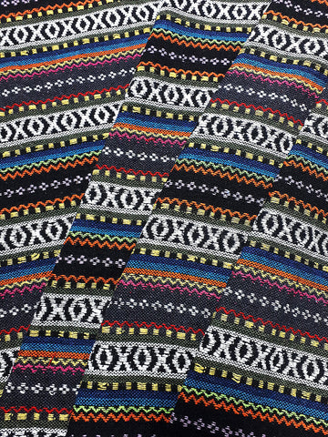 Thai Woven Cotton Fabric Tribal Fabric Native Fabric by the yard Ethnic fabric Aztec fabric Craft Supplies Woven Textile 1/2 yard (WF236)