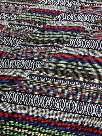 Thai Woven Cotton Fabric Tribal Fabric Native Fabric by the yard Ethnic fabric Aztec fabric Craft Supplies Woven Textile 1/2 yard (WF237)