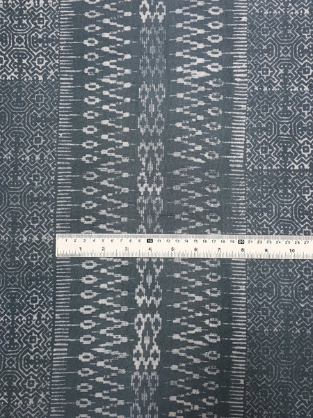 Thai Hand printed Fabric Natural Cotton Fabric by the yard Hmong Fabric Hill Tribe Fabric Vintage Fabric Batik Fabric Light Slate Gray HFP27